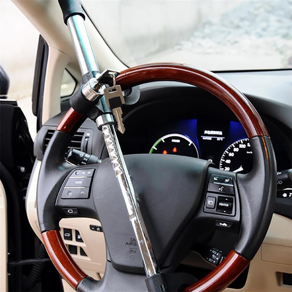 ZHAS Steering wheel lock universal car double hook retractable heavy security anti - theft steel plastic by ZHAS (Image #4)