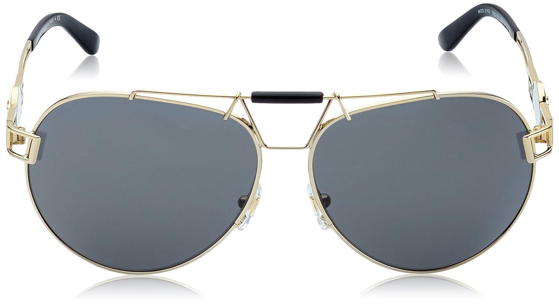 c8dfce44ca550 Amazon.com  Versace VE2160 125287 Gold VE2160 Pilot Sunglasses Lens  Category 3 Lens Mirrore  Clothing