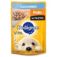 Pedigree Alimento Húmedo Sobres Cachorro Pollo en Filetes, 10 Case