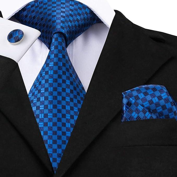 FDHFC Corbatas Formales para Hombre Traje De Verano Azul Negro ...