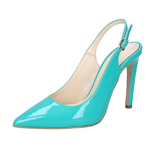 228fa9e90b0c44 OLGA RUBINI Escarpins Femme Cuir Verni Vert: Amazon.fr: Chaussures ...