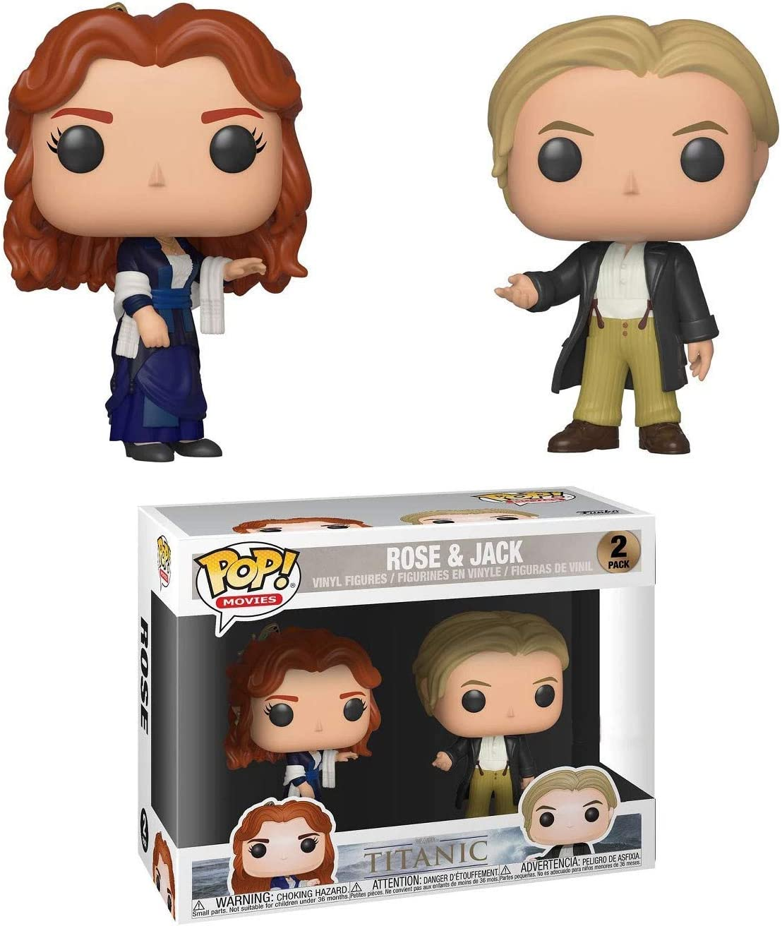 Funko - Figurine Titanic - 2-Pack Rose & Jack Exclu Pop 10cm - 0889698364379: Amazon.es: Juguetes y juegos