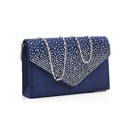 20d995f85a Image Unavailable. Image not available for. Colour: Ladies Diamond Envelope Clutch  Bag Evening Bag Bridal Wedding Bag Handbag ...