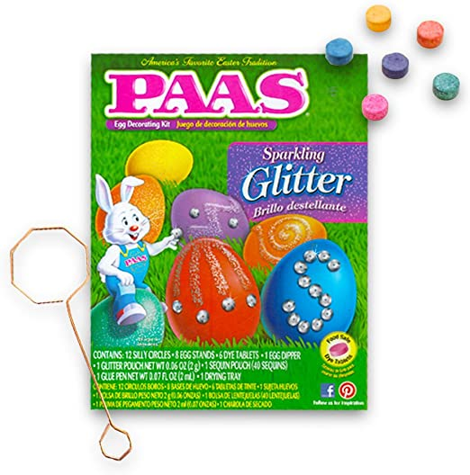 PAAS Sparkling Glitter Easter Egg Decorating Kit 9