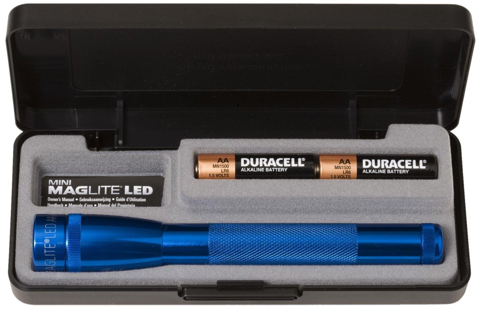 Linterna Maglite : AA Mini LED Presentation Box Azul