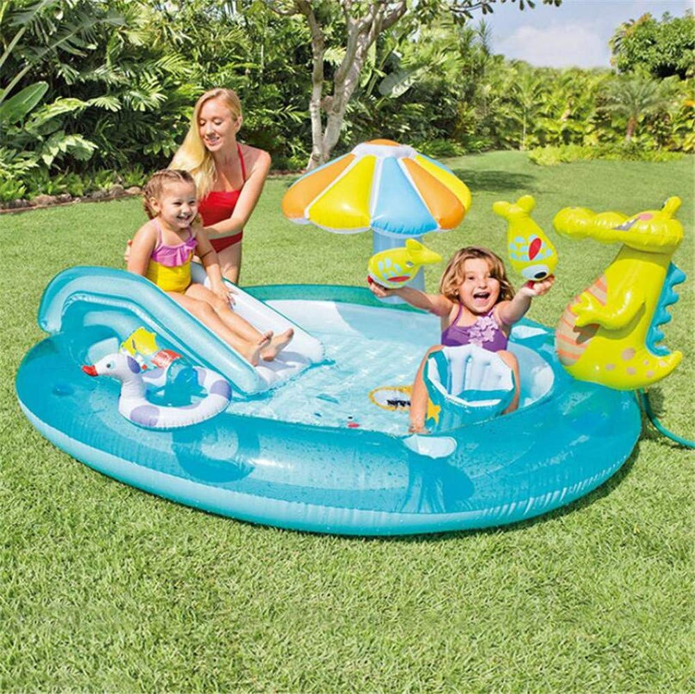 Whryspa Inflatable Swim Center Fun Baby Swimming Pool Toddler Water Spouts Slide Garden Leisure Pool 20317389Cm by Whryspa (Image #2)