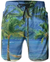 Tender Coconut Tree Men's Swim Trunks With Pockets