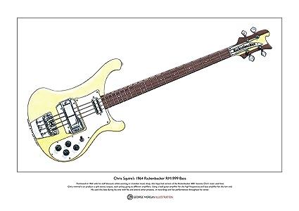 Rickenbacker RM1999 bajo edición limitada arte impresión ...