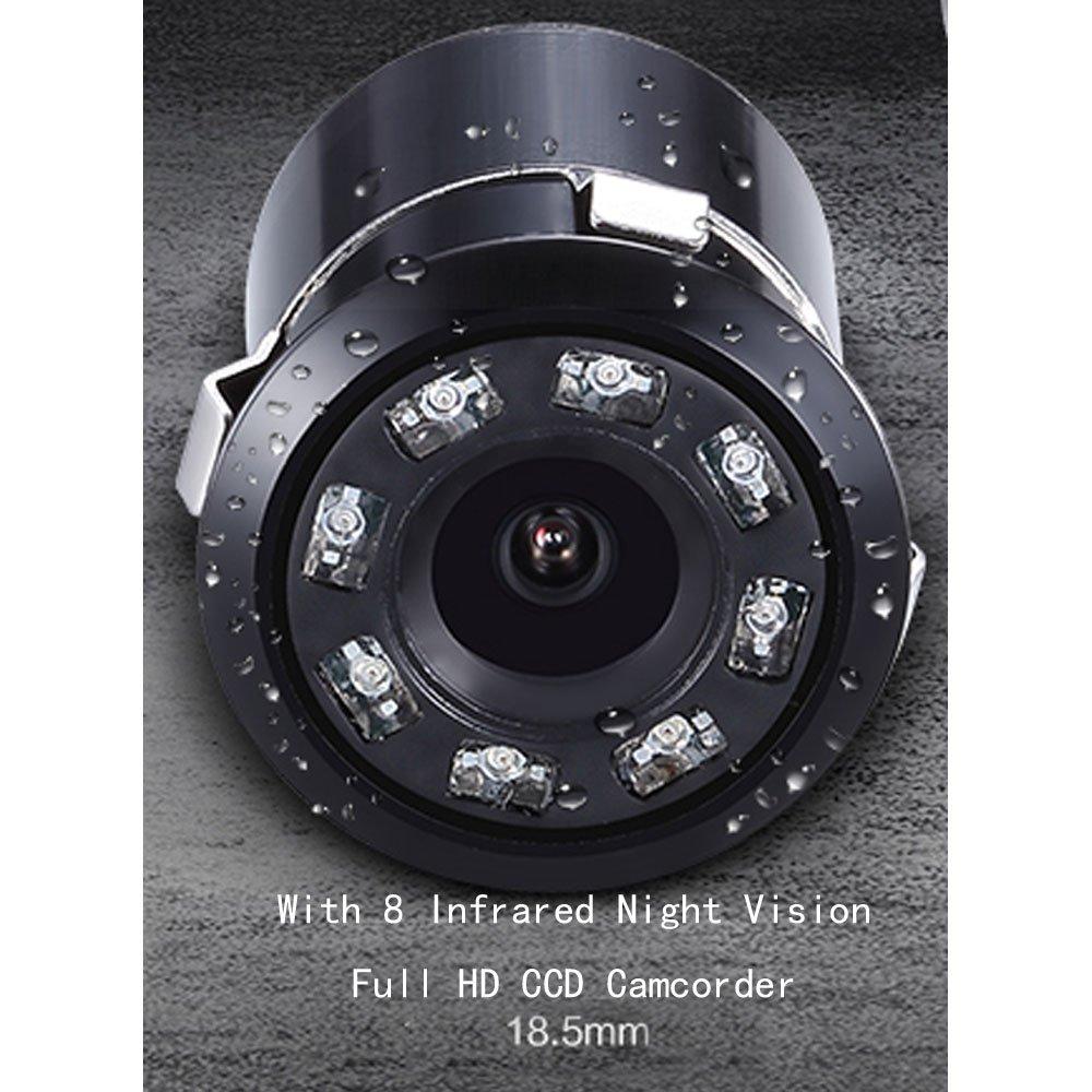 XJW Waterproof Car Rear View Backup Camera 8 Infrared Night Vision Full HD CCD Camcorder 170-Degree /… 4350455686