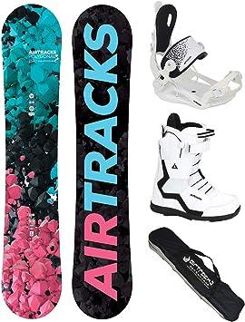Tabla Jungle Wide Rocker+Fijaciones Master FASTEC+Botas+SB Bolsa//Nuevo Paquete Completo AIRTRACKS Snowboard Set