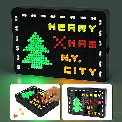 Amazon Com Nuur Light Up Letter Board Led Message Board Light Box