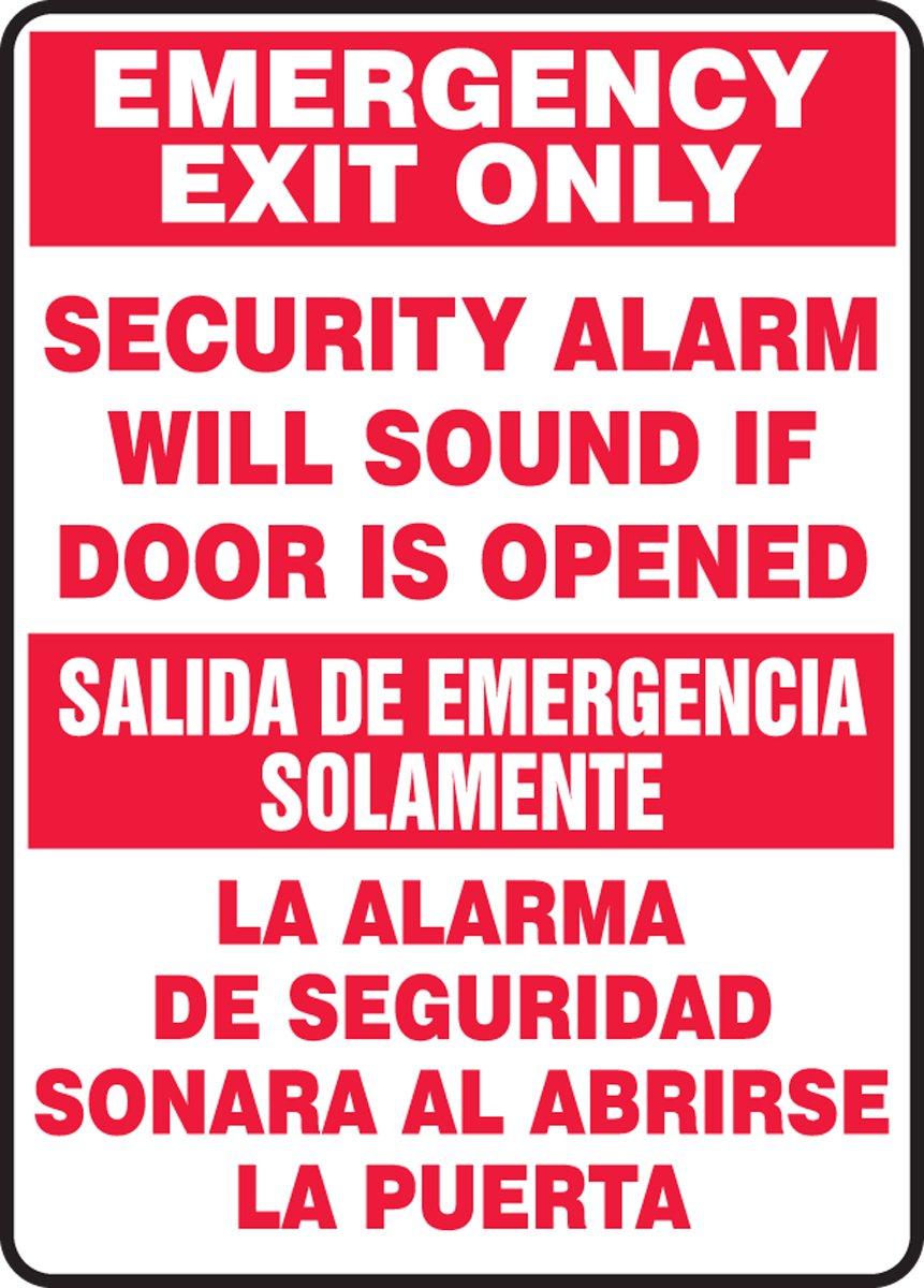 Accuform SBMEXT566VS Adhesive Vinyl Spanish Bilingual Sign ...