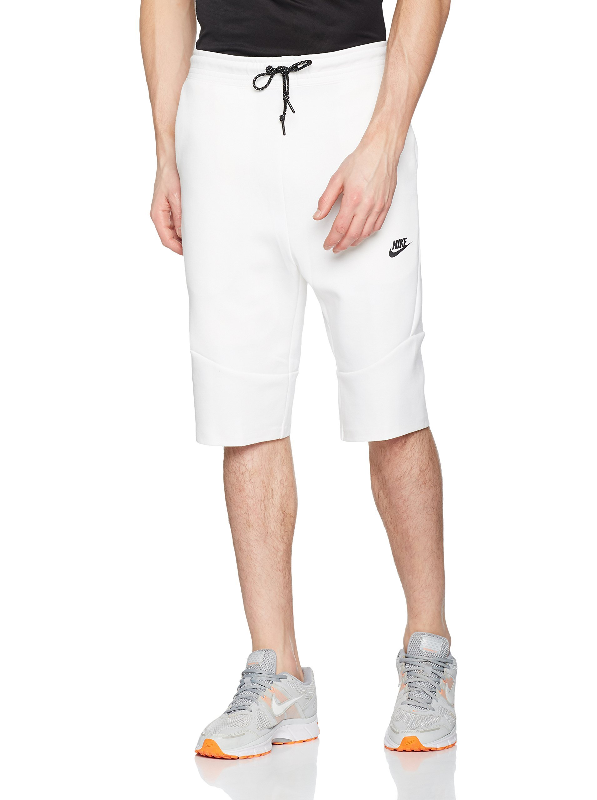 Nike Men's NSW Tech Fleece 2.0 Training Shorts 727357-100 (Medium) White