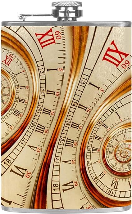 Viejo Reloj Reloj Reloj Plano de Licor, Botella de Bebida de ...