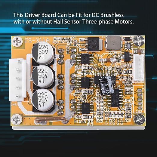 Fydun 5V-36V 350W DC Controlador de motor sin escobillas BLDC PWM Driver Board Controlador de motor sin escobillas