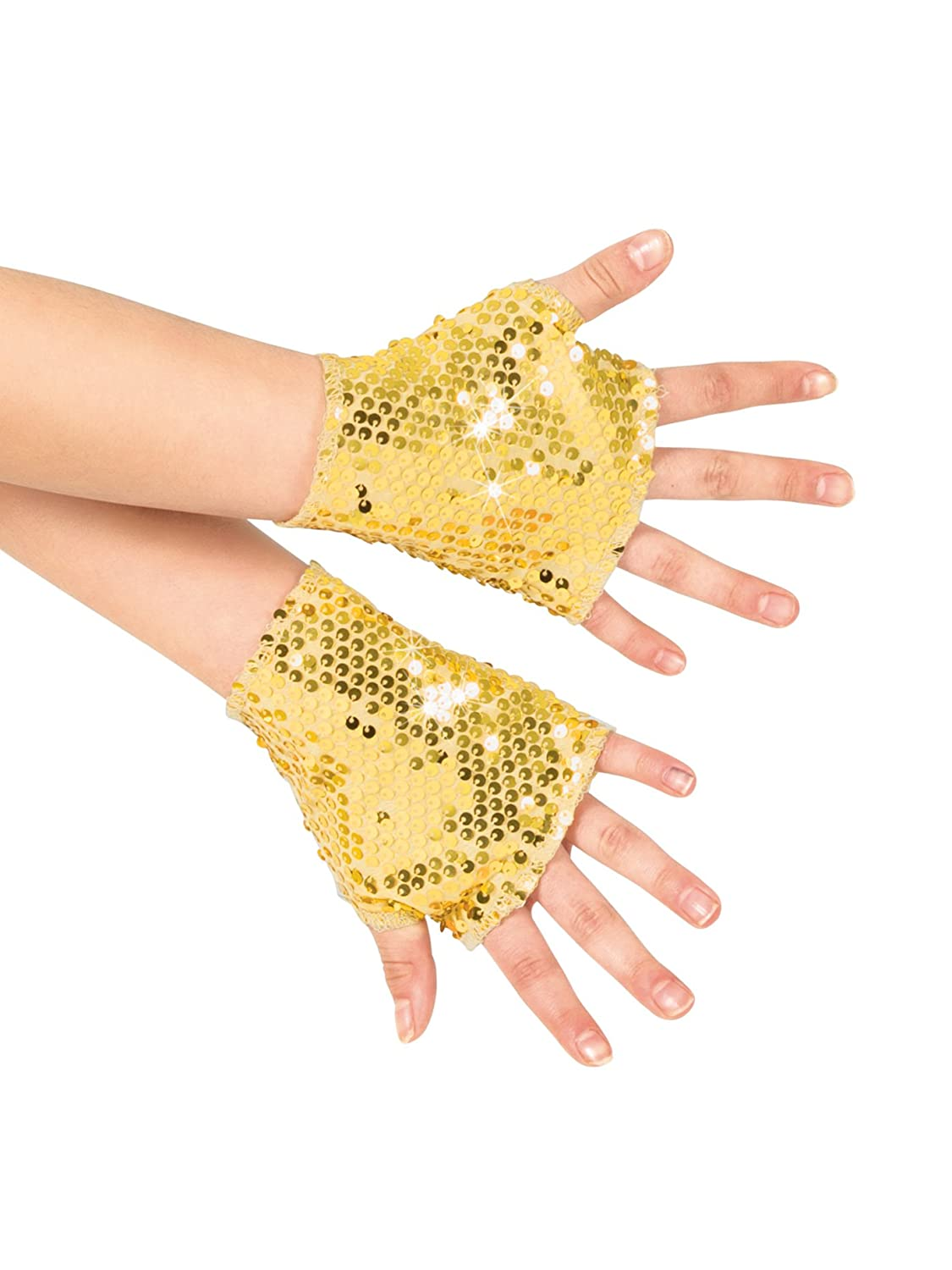 Girls Sequin Mitts N7303C