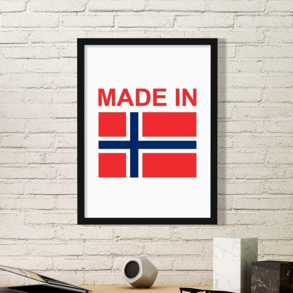 DIYthinker Made in Norway Country Love Art Painting Picture Photo Wooden Rectangle Frame Home Wall Decor