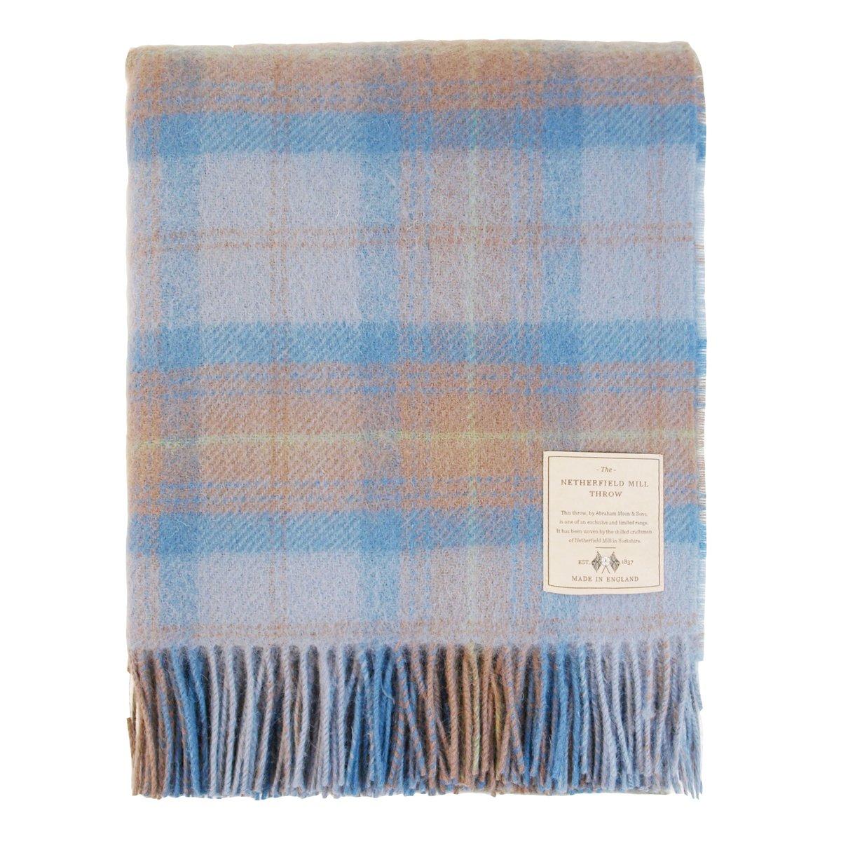 British Wool Throw Blue-Green ONE