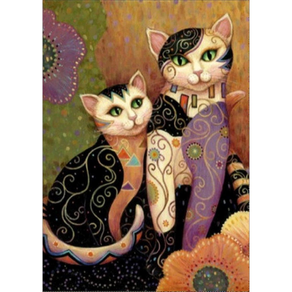 Fairylove 30×40 Diamond Painting Cross Stitch Kits Diamond Dotz for Fun Diamond Embroidery Kit , Lover Cat