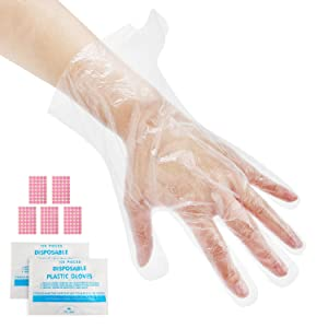 200pcs Paraffin Bath Liners for Hand, Segbeauty Plastic Thermal Mitten Bags with Stickers, Therabath Glove Mitt Liner Covers for Women Hot Wax SPA Therapy Treatment Wax Messes Paraffin Wax Machine