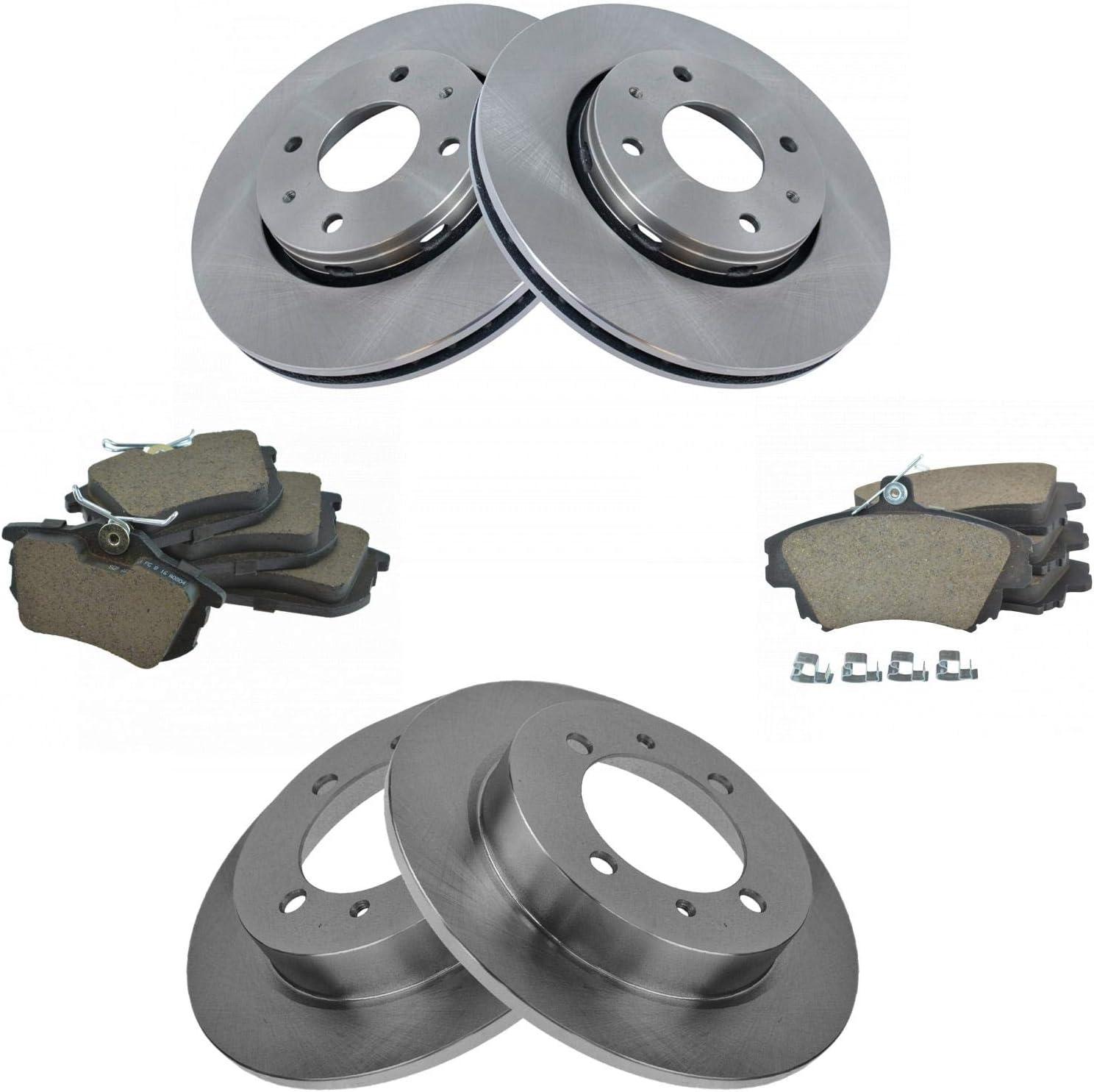 Rotors w//Ceramic Pads Elite Brakes 2007-2011 Volvo C30 C70 S40 V50 Front