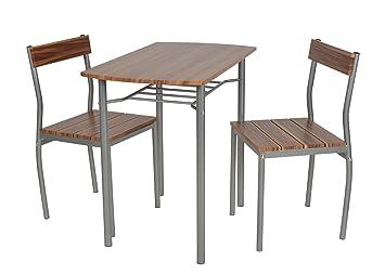 ts-ideen 3-teilige Essgruppe 3er Set Esstisch Küchentisch mit ...