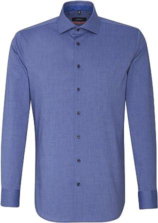Herren Freizeithemd, 11 Arm, Kent, Comfort Fit, blau, M