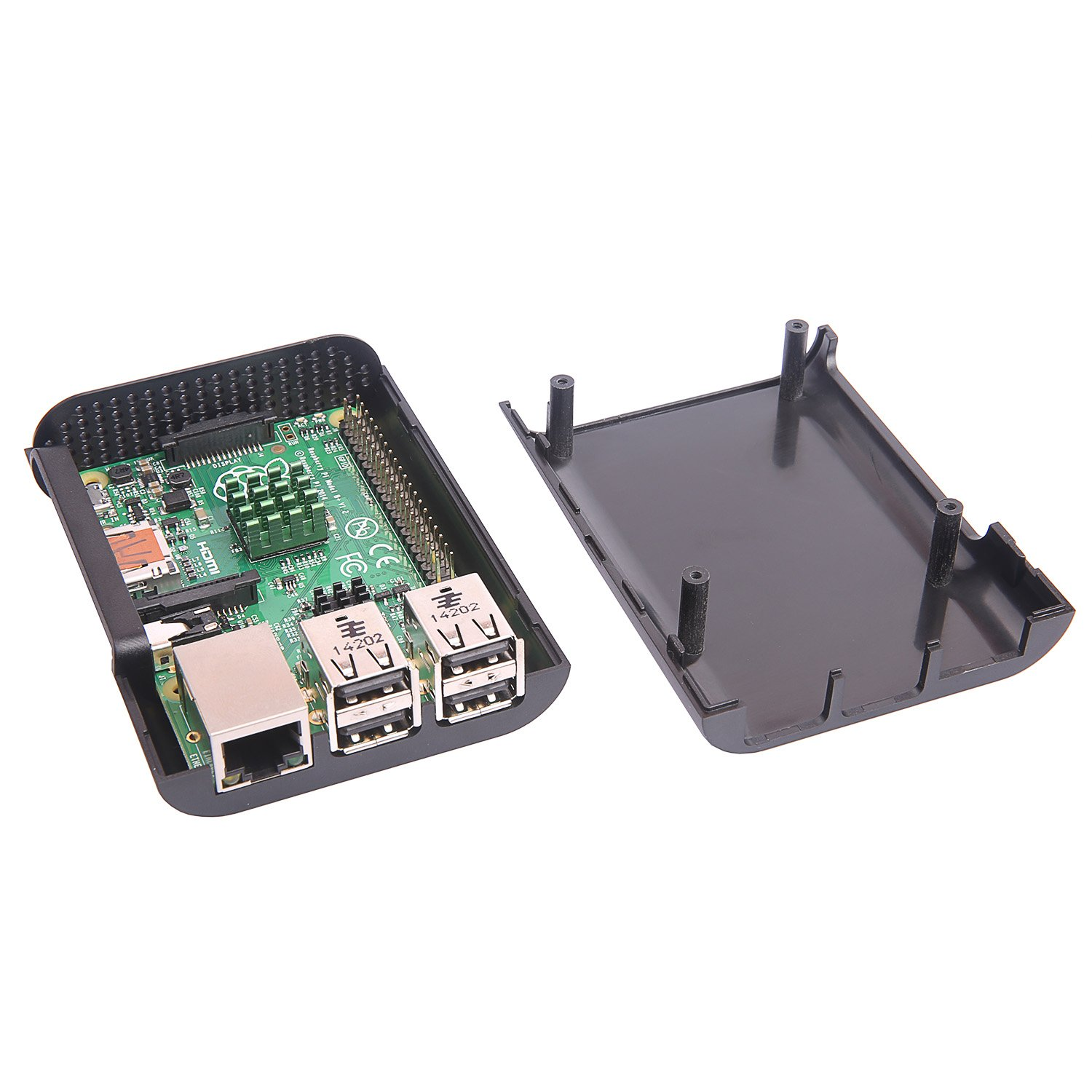 JBtek Jet Black Case for Raspberry Pi 3 Model B & Raspberry Pi 2 Model B - Access to All Ports