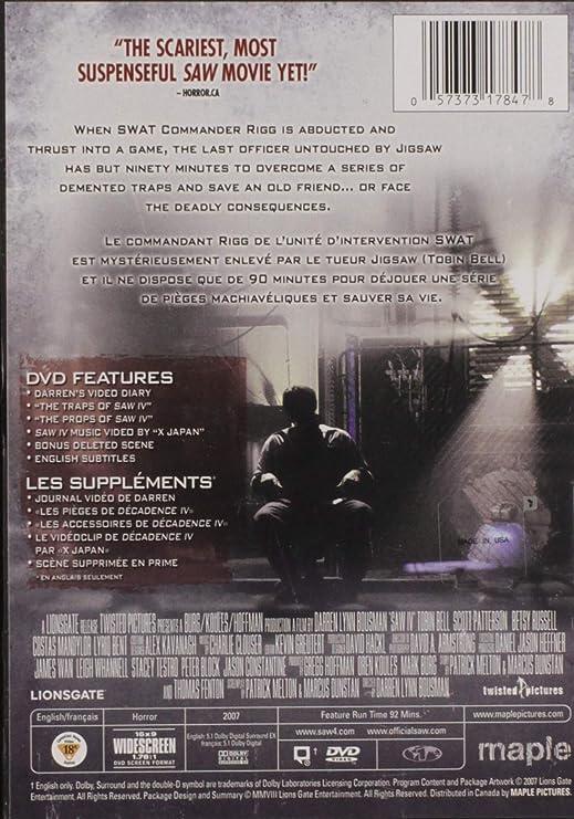 Saw IV / Décadence IV (Bilingual): Amazon ca: Tobin Bell