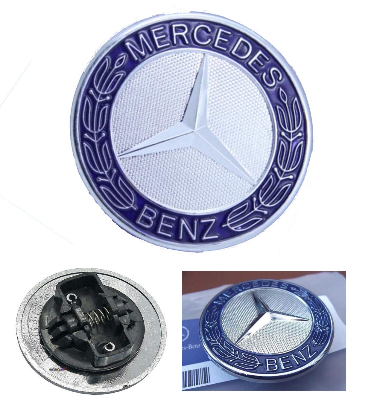 Argent et Bleu. badge de rechange de 57 mm Embl/ème de capot MB /étoile