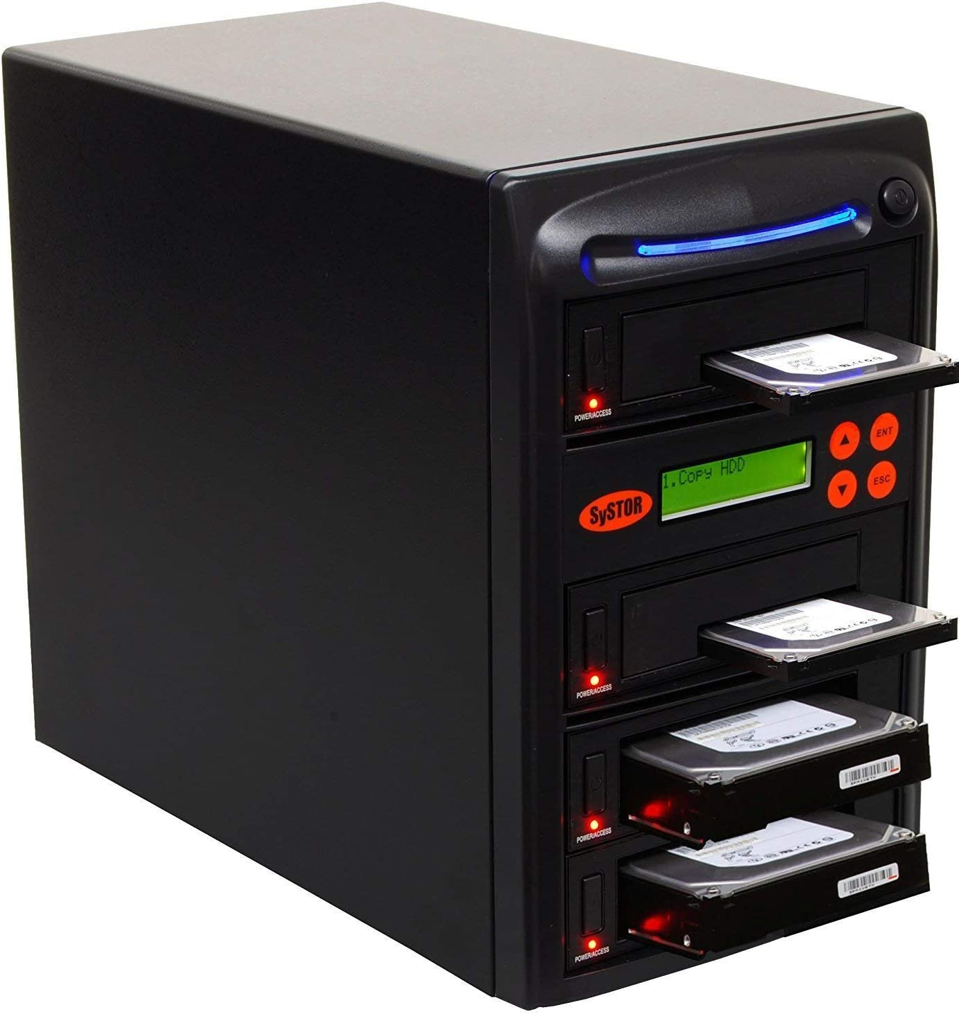 SySTOR 1 to 3 SATA 600MB/s HDD SSD Duplicator/Sanitizer - 3.5
