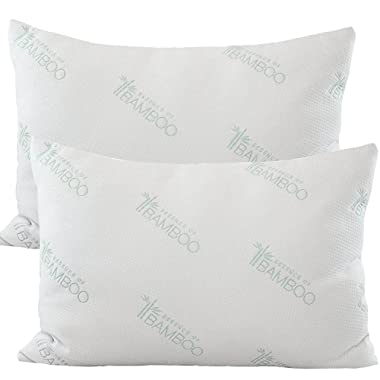 Deluxe Home Queen Sized 2 Pack Bed Pillows For Sleeping in Luxurious Comfort - Soft Down Alternative Gel Fiber Fill - The Soft Pillow Lovers Dream Come True
