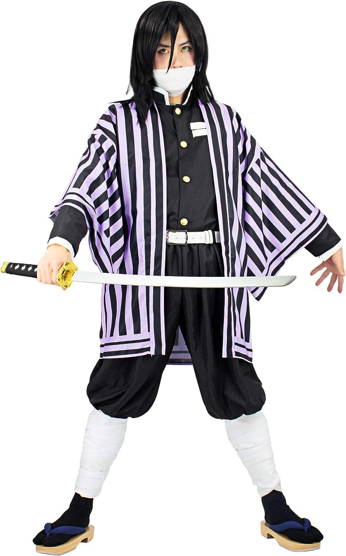 Demon Slayer Kimetsu no Yaiba Kochou Shinobu Cosplay Costume Kimono Suit Lot
