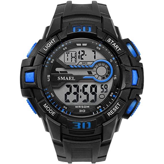Beydodo Reloj Deporte al Aire Libre Reloj Impermeable Reloj Deportivo Relojes Electronicos Reloj de Estudiante Reloj Hombre Azul: Amazon.es: Relojes
