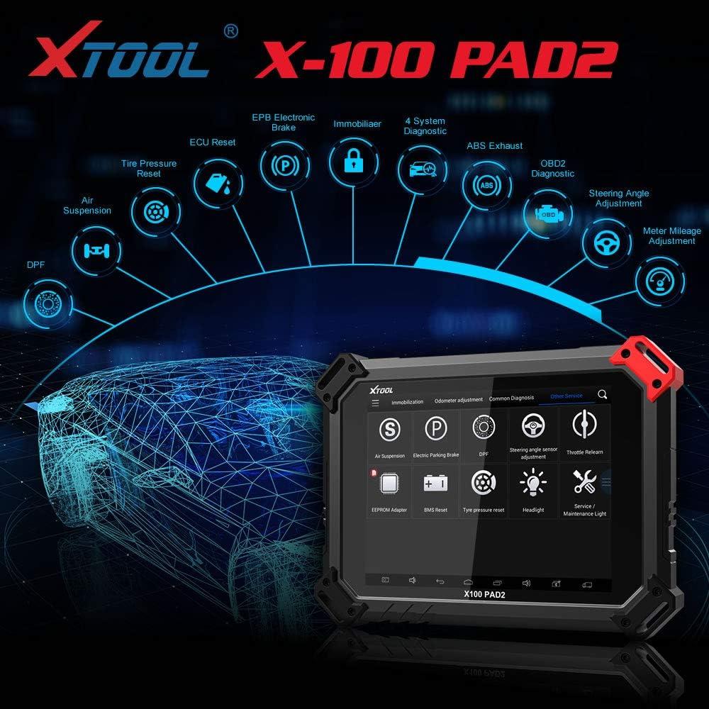 XTOOL X100 Pad2 Pro with KC100 Key Programmer Engine/EPB/TPS/Oil ...