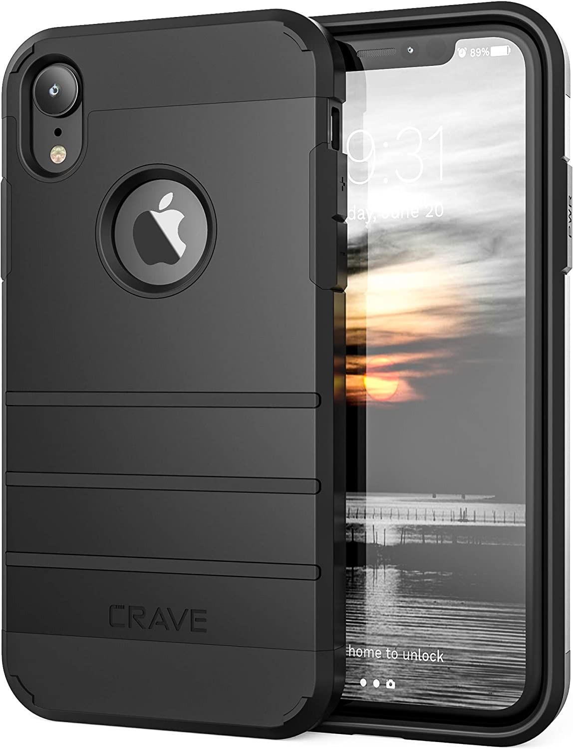 iPhone XR Case, Crave Strong Guard Protection Series Case for Apple iPhone XR (6.1 inch) - Black