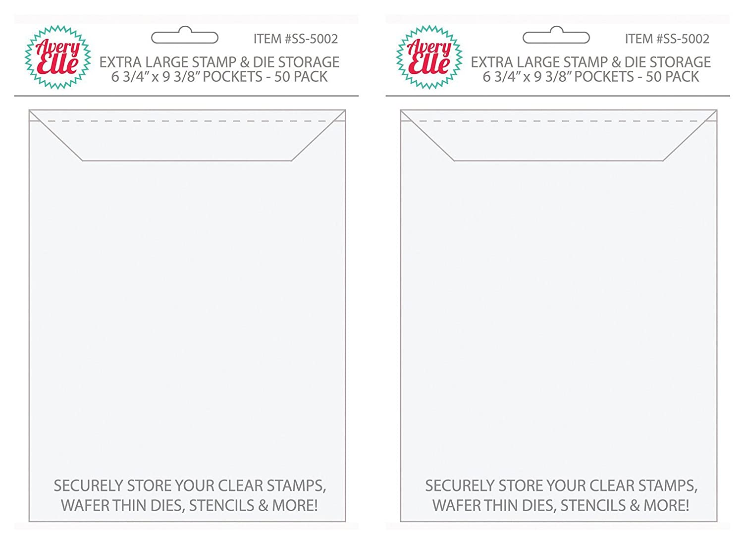 Clear - 12 3//4 x 13 CheckOutStore Clear Storage Pockets for Storing 12 x 12 Cardstock Paper Used for Rubber Stamping /& Scrapbooking 50