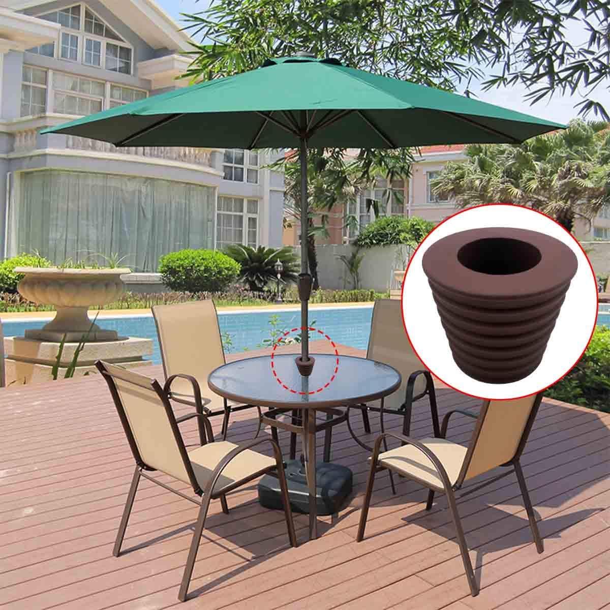 Diriway Umbrella Wedge Patio Opening or Parasol Base Bracket 1.8 to 2.4 Inch 38 mm Mast Diameter 1 1//2 Inch Brown 1pack