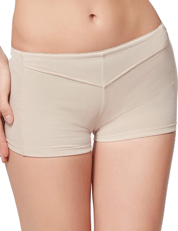 Dethler Womens Body Shaper Booty Butt Lifter Enhancer Body Shorts Seamless Panties