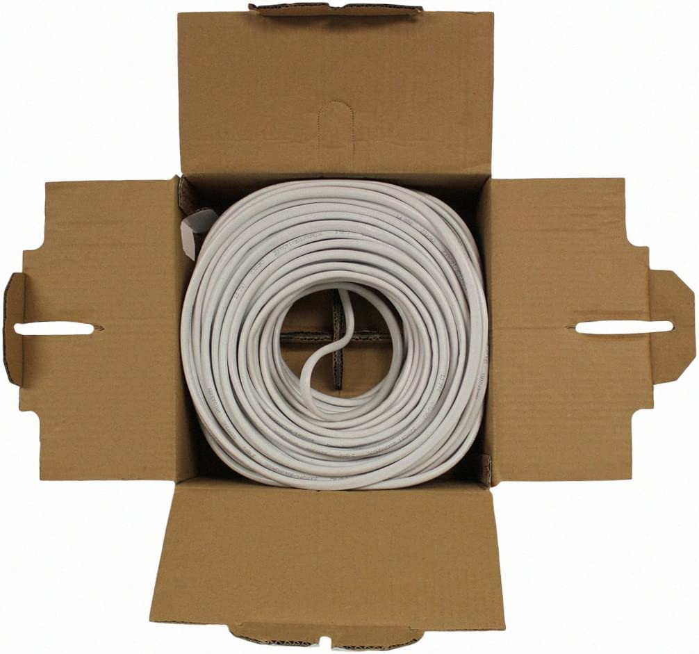 NavePoint 250ft in Wall Audio Speaker Cable Wire CL2 16//2 AWG Gauge 2 Conductor Bulk White