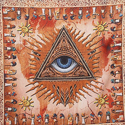 All-seeing Eye Egyptian tapestry Wall Art Hippie Wall Hanging Bohemian Wall hanging(57W x 57L)