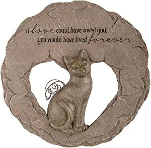 Devoted Angel Resin Cat Memorial Stepping Stone, 10 Inch