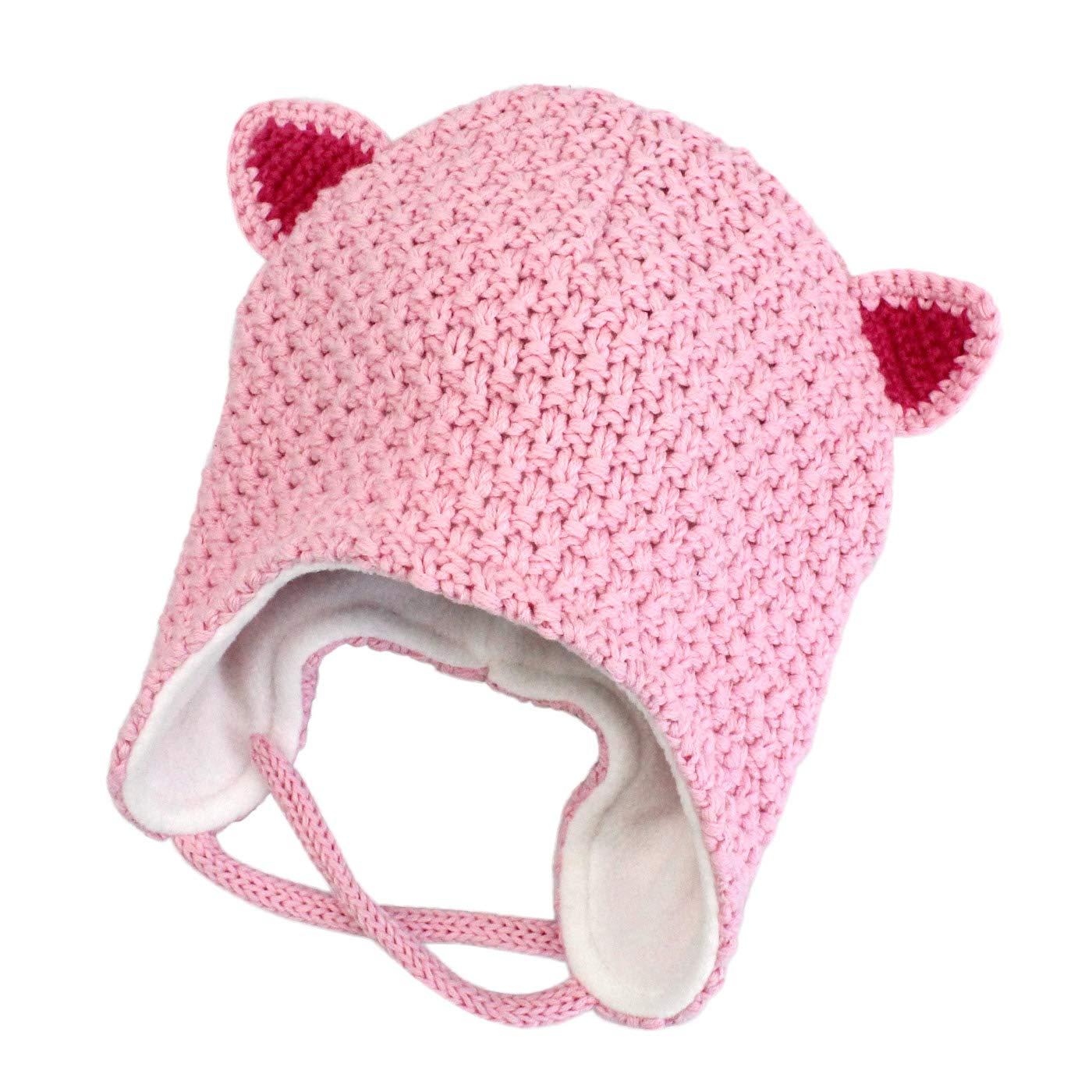 1d2cb045e8c2 Langzhen Bébé Bonnet Enfants Protection Oreille Chapeau d hiver Doux Chaud  Bonnet Tricoté Agrandir l image