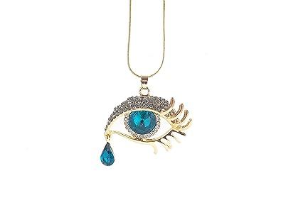 nouveau style grande remise meilleur prix pour Remy Bijou ausgefallene Collier avec pendentif oeil Bleu ...