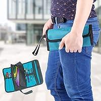 Almacenamiento de herramientas para electricistas, bolsa plegable plegable con soporte profesional, organizador conveniente de tela Oxford 600D