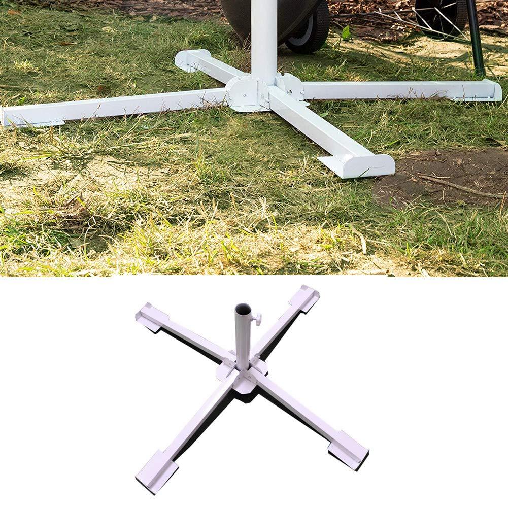 Ruiting Foldable Beach Umbrella Base Portable Folding Parasol Sunshade Stand Cross Design Ground Patio Umbrella Stand