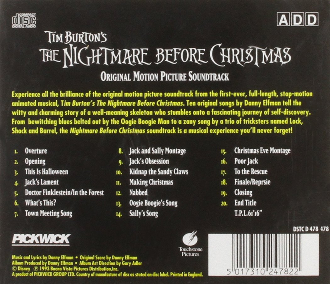 Nightmare Before Christmas by Danny Elfman: Amazon.co.uk: Music