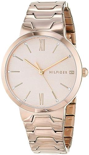Tommy Hilfiger Reloj Analógico para Mujer de Cuarzo con Correa en Oro Rosa 1781959: Amazon.es: Relojes