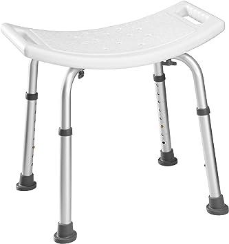 TecTake Taburete para bañera Taburete de ducha Banco para bañera en aluminio | regulable en altura - varios modelos - (Taburete rectangular | No. 402510): Amazon.es: Salud y cuidado personal