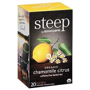 Bigelow 17707 steep Tea, Chamomile Citrus Herbal, 1 oz Tea Bag, 20/Box